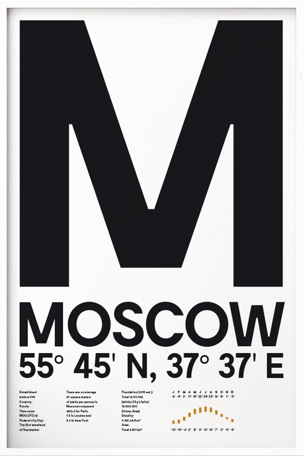 moscow typografie poster online kaufen yourownage. Black Bedroom Furniture Sets. Home Design Ideas