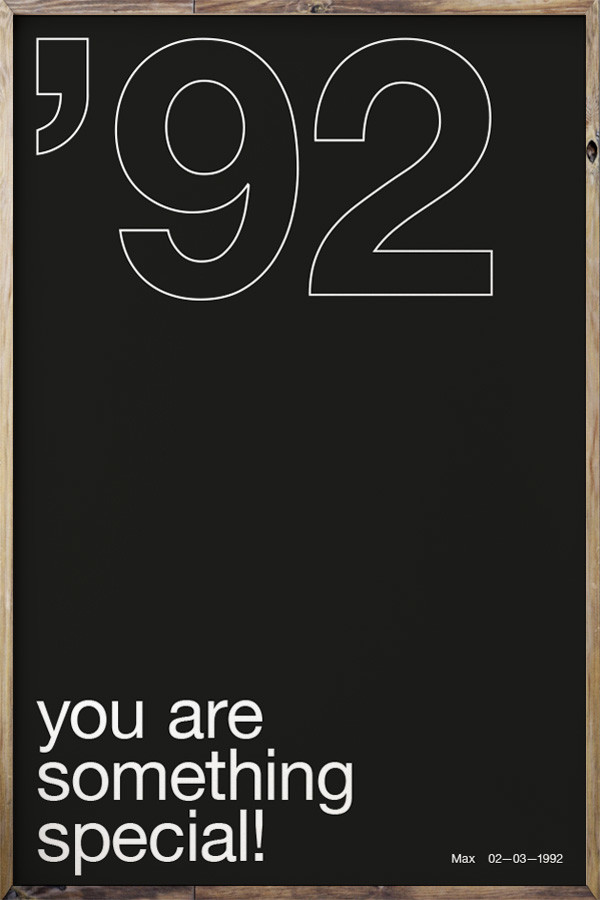 Your Birth Year N°3 Black