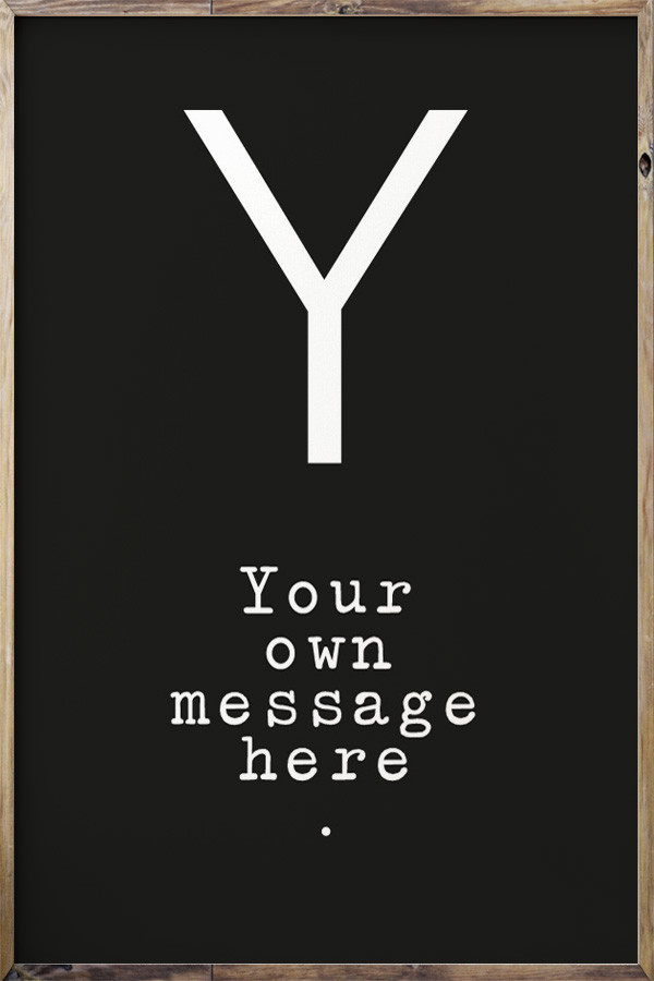 Your Message N°9 Black