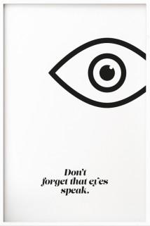 Eyes speak bnw