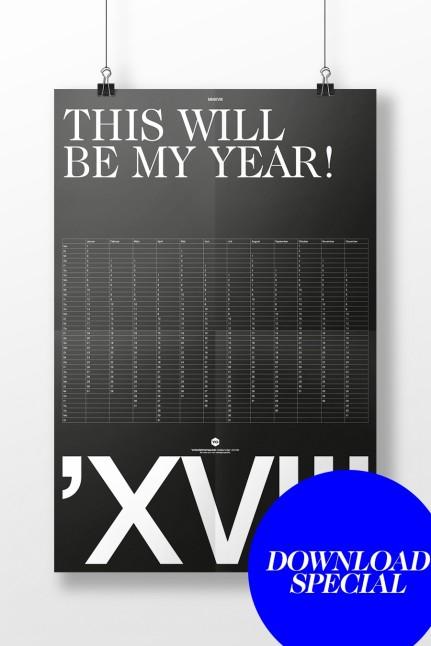 Kalender 2018 Black