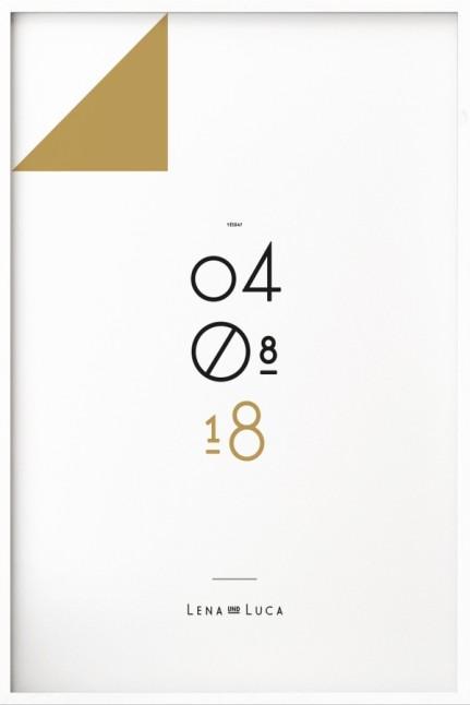 Wedding Date N°1 Gold