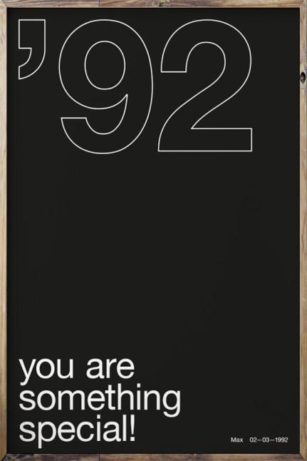 Your Birth Year N°3 Black