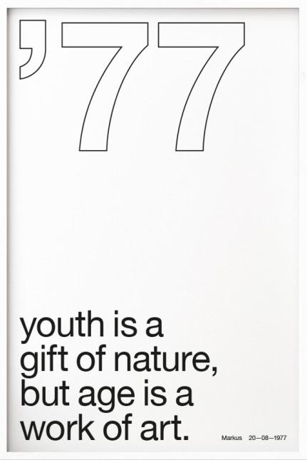 Your Birth Year N°3 White