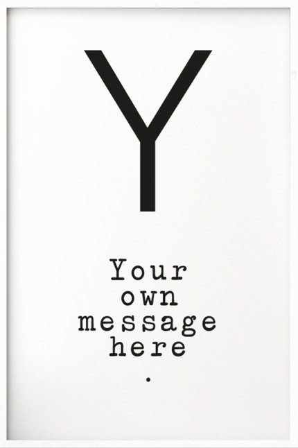 Your Message N°9 White
