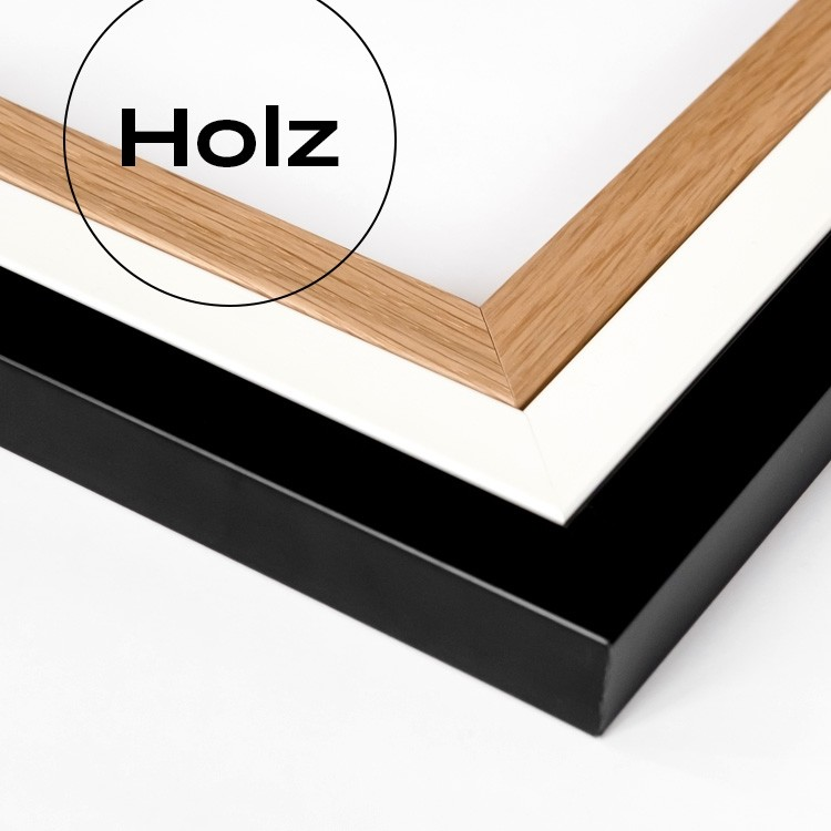 bilderrahmen w01 eiche holzrahmen in vielen gr en yourownage. Black Bedroom Furniture Sets. Home Design Ideas